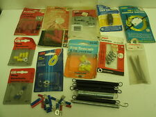 Lot of electrical items: ring & circuit connectors, cord switch /dimmer, springs