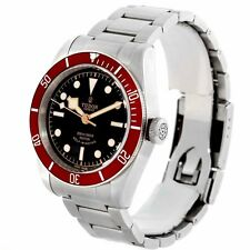 Tudor Heritage Black Bay Automatic Black Dial Red Bzel Watch 79220R-95740BLK IND