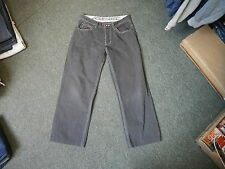 """Lambretta Straight Jeans Waist 32"""" Leg 27"""" Faded Dark Grey Mens Jeans"""