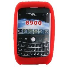 Red SILICONE CASE SKIN COVER for Blackberry Curve 8900 tm090