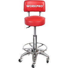 Adjustable Hydraulic Stool Wheels Work Shop Garage Vendor Heavy Duty High Chair