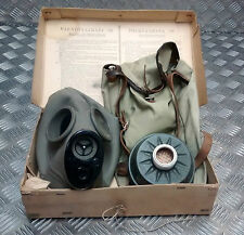 Genuine Swedish Army Vintage Gas Mask with Filter Dated 1939 / WWII In Box 002