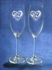 Corpse Bride Victor Emily Wedding Glasses Flute Engrave
