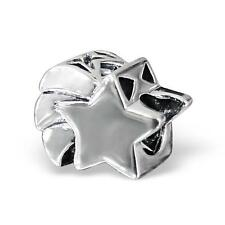 925 Sterling Silver Shooting Star Wish Sky Bracelet Charm Bead Gift Boxed B314