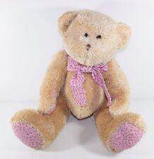 "Circo Plush Shaggy Teddy Bear Target Pink Corduroy Bow and Paws Large 19"""