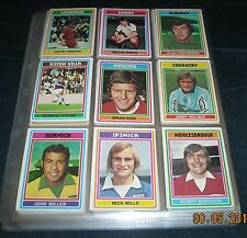 TOPPS 1976 FOOTBALLERS - THE COMPLETE SET! 330/330 CARDS - EXCELLENT CONDITION