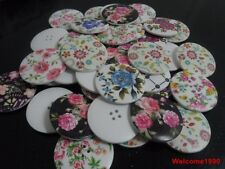 40pcs 40mm fashion Scrapbooking Sewing Good nature wood buttons women coat mixed