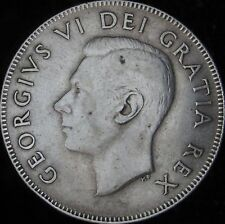 1949 XF Canada Silver 50 Cents (Fifty, Half) - KM# 45 - Free Shipping - JG