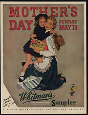 1951 Daughter Hugs Mom On Mother's Day - WHITMAN'S Candy VINTAGE AD