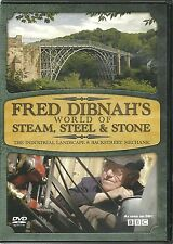 FRED DIBNAH'S WORLD OF STEAM, STEEL & STONE DVD - INDUSTRIAL LANDSCAPE & MORE