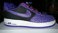 Nike Air Force 1,2013 Rare!!, Black / Court Purple, 488298 025, Size 10