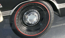 STEEL WHEEL AND TIRE SET OF 4 WITH DOG DISH HUBCAP PACK 1/18 GMP 18818
