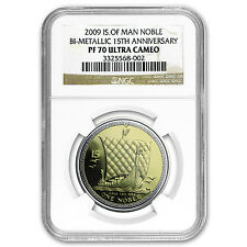 2009 Isle of Man Bi-Metallic Noble PF-70 NGC (15th Anniv) - SKU #73115