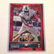 #84 Knowshon Moreno Georgia / Dolphins #ed/25 made Red Version 2015 Topps 5x7