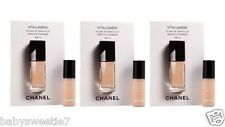 Chanel VITALUMIERE SATIN SMOOTHING FLUID MAKEUP #20 Claire 2.5ml x 3 = 7.5ml