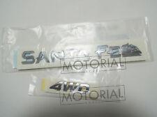 2000-2006 HYUNDAI Santa Fe Genuine OEM SantaFe + 4WD Emblem 2EA Set