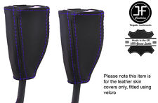 PURPLE STICH 2X FRONT SEAT BELT LEATHER COVERS FITS HOLDEN COMMODORE VT VX VU WH