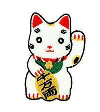 Patch toppe toppa ricamate termoadesiva gatto tenshi maneki necko cina bandiera