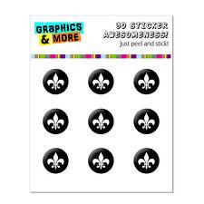 Fleur de Lis Black Home Button Stickers Fit Apple iPhone 3G 3GS 4 4S 5 5C 5S