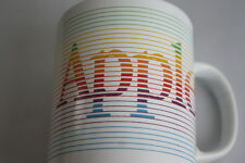 Vintage APPLE Computer MUG Coffee Tea Cup RARE Rainbow Design Made in England
