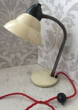 Vintage French Metal Desk Lamp Light 60s 70s Retro Mid-century Industrial