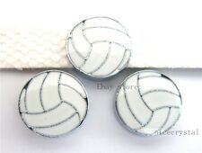 10pcs 8mm Volleyball DIY Slide Charm Fit Wristband/Pet Name Collar ZC001