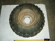 1990 Suzuki Quadrunner 250 4x4 ATV Rear Right Steel Wheel Rim (Tire Leaks)