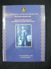 JOHN BULL AUCTION CATALOGUE 2010 HISTORICAL DOCUMENTS WITH Dr SUN & REVOLUTION