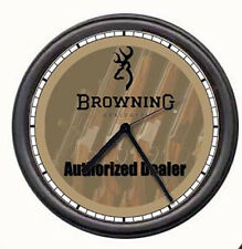 Browning Gun Store Rifle Gun Dealer Firearm Shop Sign Wall Clock