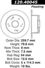 Disc Brake Rotor-High Performance Drilled And Slotted fits 96-98 Acura TL