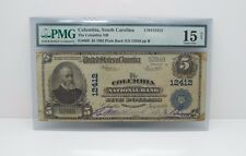 #12412 1902 Large Size $5 Columbia Nat Bank Note Pmg 15 Ch Fine Net Fr#609