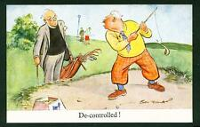 COMIC – GOLF – 'DE-CONTROLLED!' – TUCK – ARTIST 'BERT THOMAS' – UNUSED