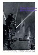 Luftangriff Deutsche Luftwaffe XL Kunstdruck 1940 Scapa Flow Britische Flotte +
