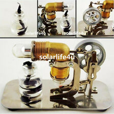 Mini Hot Air Stirling Engine Motor Model Teaching Toy Kits Electricity CA