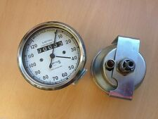 BRAND NEW BSA, ROYAL ENFIELD SMITHS SPEEDO METER 0-120 MPH WITH WHITE FACE