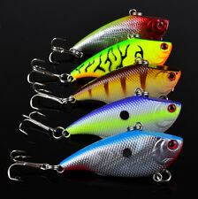 5pcs Lot Bass VIB Hook Fishing Lures Hard Baits Treble Fishing Tackle 7.5g/5.5cm