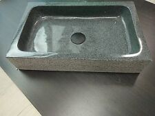 Modern Solid Stone Grey MARBLE gloss square Bowl Counter Top Basin Vanity SINK