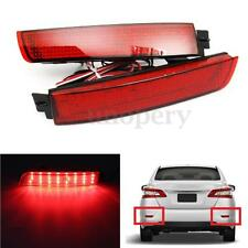 1 Pair LED Bumper Reflector Tail Brake Light For Nissan Juke Murano Infinit Red