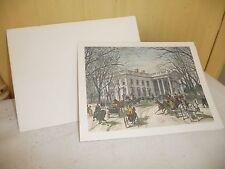 #1123 vtg President Jimmy & Rosalynn CARTER  White House GREETING Card w envelop