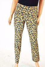 Style&co. Women's Stretch Beige Animal Tummy-Control Skinny Curvy Denim Jeans 16