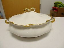 VINTAGE Johnson Bros England Chantilly Gold Edged COVERED SERVING DISH