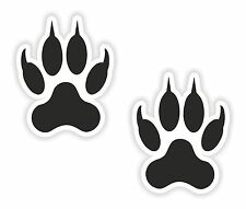 2x Wolf Paw Print Stickers Symbol of Mentoring Teaching Wisdom for Bumper Helmet