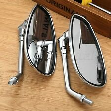 Oval 10mm Motorcycle CNC Aluminum Rearview Side Mirrors Suzuki Honda Kawasaki