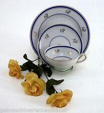 Reinecke Porzellan Sammelgedeck mit Blumendekor Goldrand & blauer Umrandung