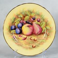 "AYNSLEY FRUIT PLATE SIGNED N. BRUNT - PATTERN #7956, 10-5/8"" DIAMETER"