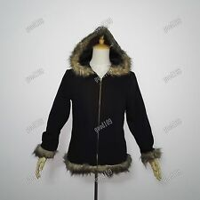 Anime Durarara!! Izaya Orihara Cosplay Costume hooded Coat Jacket