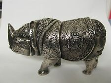 RHINO TIBET .999 SILVER FINELY TOOLED FIGURE EXCELLENT CONDITION NO MONOGRAM