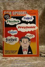 Der Spiegel 40/76 27.9.1976 Wahl-Krampf um ein Wort