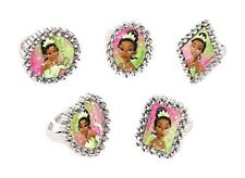 Princess and the Frog Jewel Rings- Cupcake Toppers-Party Favors- 12 Pieces
