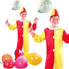 Childrens Kids Clown Fancy Dress Costume Circus Halloween Childs Outfit M